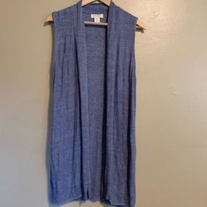 Cynthia Rowley | Blue Linen Sweater Vest | Large L